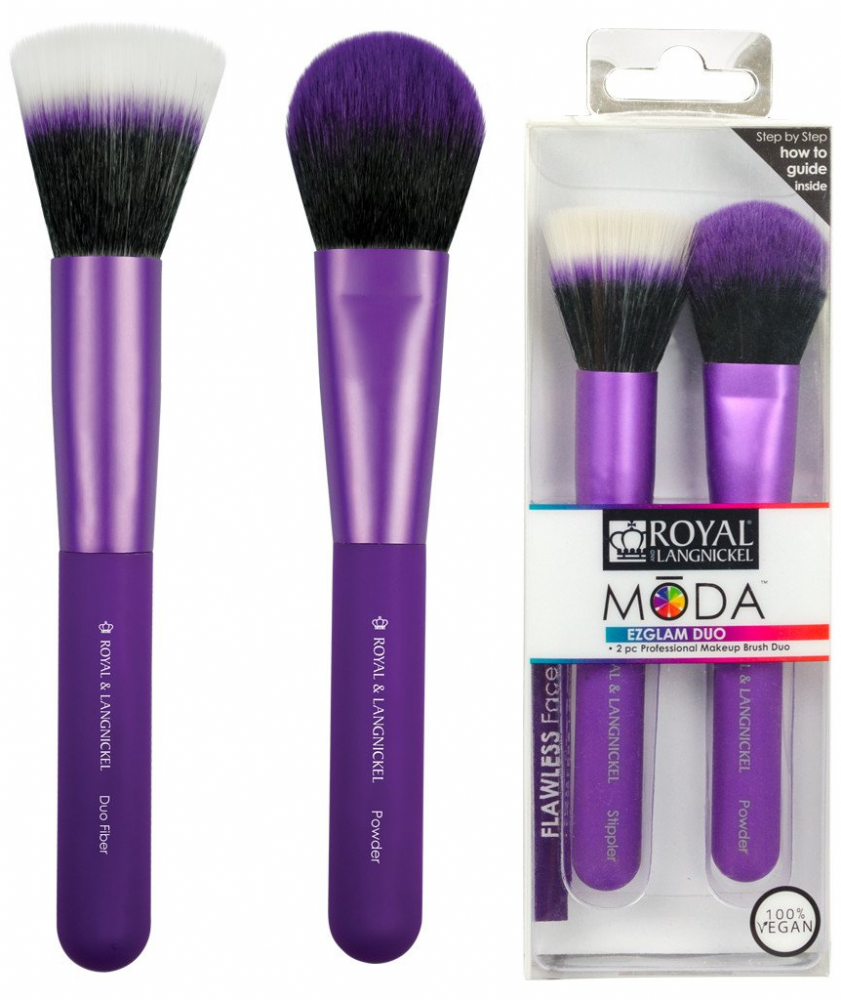 Royal Langnickel Moda EZGLAM DUO Flawless Face Brush